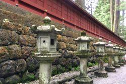 二荒山神社から東照宮への道